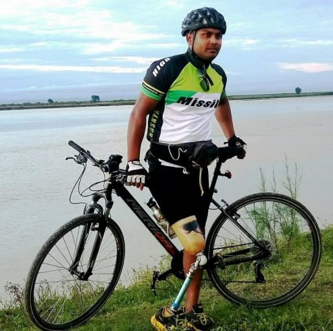 Handicap Cyclist to ride from Delhi to Dispur to help the flood victims