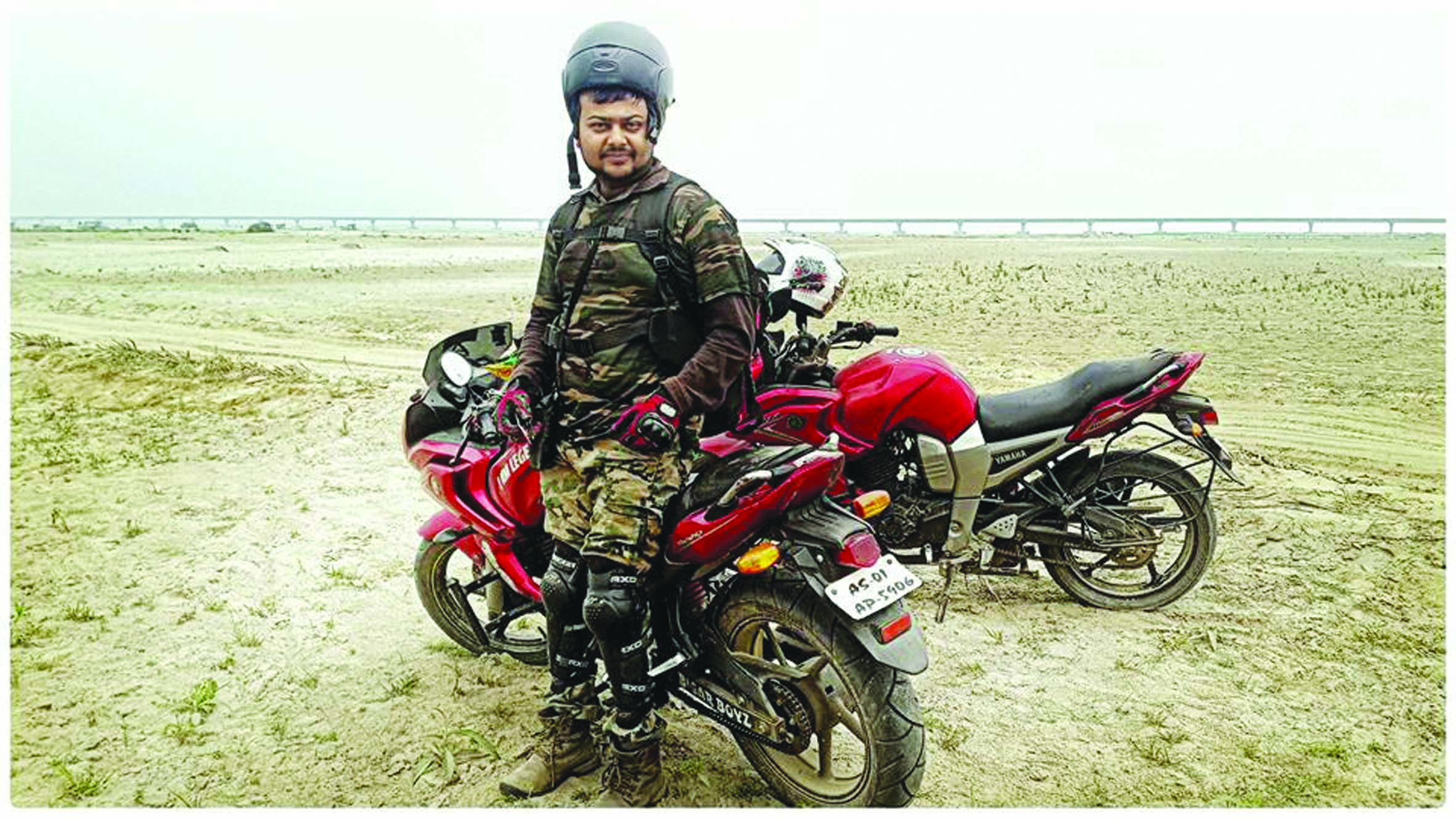 Biker to Travel from Kashmir to Guwahati to promote the NE states