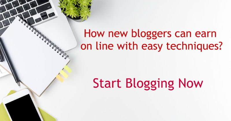 How new bloggers can earn online with easy techniques